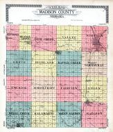 County Outline Map, Madison County 1918